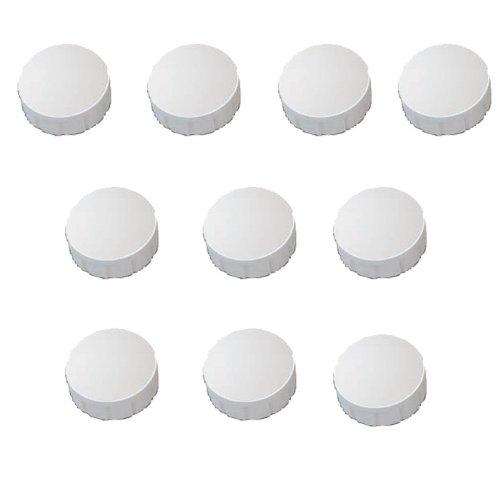30x Weisse Magnete, Ø 15, 20, 24 mm, Haftmagnete Weiß für Whiteboard, Kühlschrank, Magnettafel, Magnetset 3 verschieden Größen, Weiß