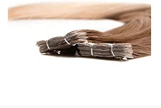 Twisted Fringe Extension - #8/13 Ombre Butterscotch/Butter Blonde - Tape In 22 Inch