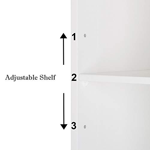 For Sale! Zebery FCH Double Doors Bathroom Cabinet White