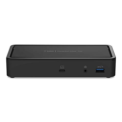 Belkin Thunderbolt 3 Dock Plus with 2.6ft Thunderbolt 3 Cable (Thunderbolt Dock for MacOS and Windows) Dual 4K @60Hz, 40Gbps Transfer speeds, 60W Upstream Charging