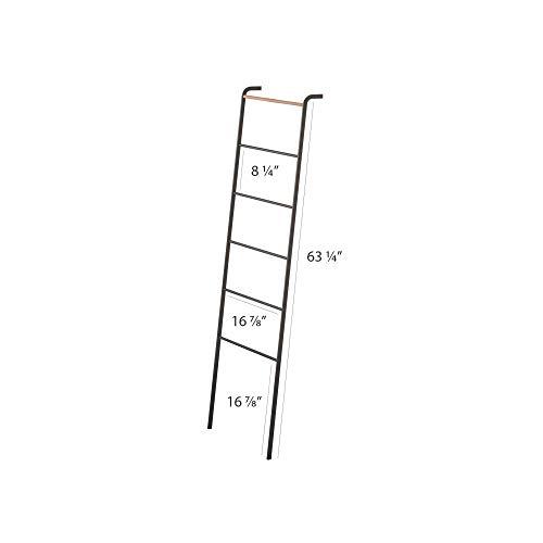 Yamazaki Home Leaning Ladder Rack, One Size, Black