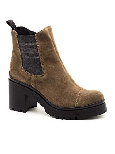 ALPE 4478 Stiefeletten aus Leder für Damen, Braun - braun - Größe: 38 EU