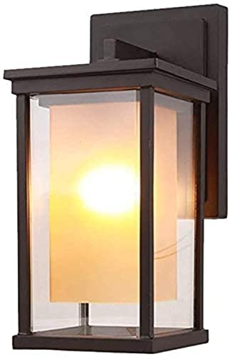 XQMY Simple And Cool Wall Lamp Simple Outdoor Gate Garden Lamp Wallofr Aisle Lights Light Bulb Requirements Metal Wall lamps that can be used, Size : 43 *