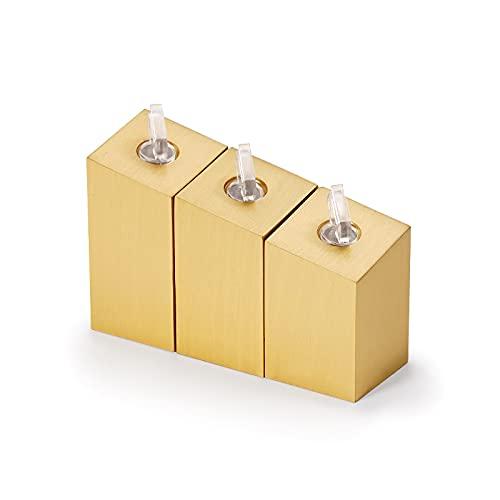 DAGCOT 3pcs / Set Soporte de exhibición de Joyas de Oro para Anillo, Anillo de Metal Organizador de joyería para ferias y exhibiciones, Base Cuadrada
