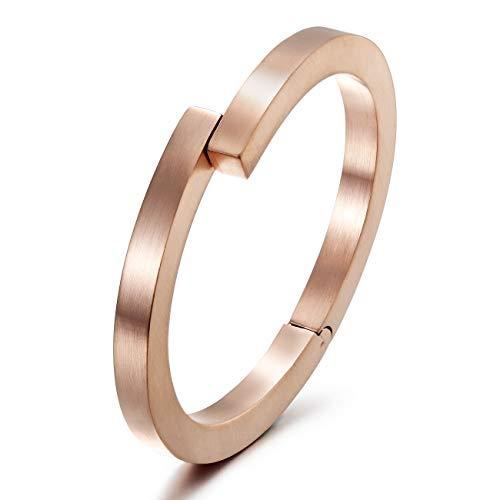 WISTIC Damen Armband Armreif Armkette Vergoldet aus Kristallen und Edelstahl Gold Rosegold Silber Ideal Geburtstag Hochzeit Geschenk für Frauen Mutter Mädchen (rosegold3)