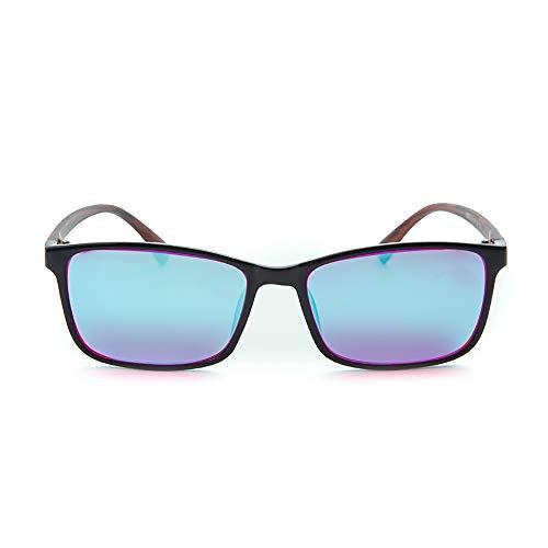 HHCC Rot Grün Blind Brillen Brillen Korrektur Männer Frauen Farbe-Blindheit Mittel Starke Brille für Sehstörung Farbe Schwäche Kunst Brille