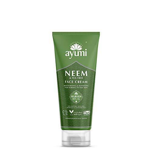 Ayumi Neem & Tea Tree Face Cream. Vegan, Cruelty-Free, Dermatologically-Tested, 1 x 100ml