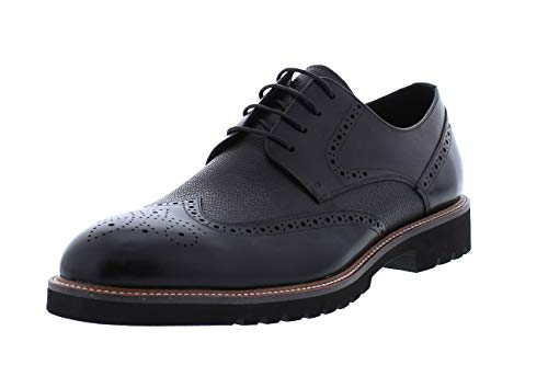 Zanzara Herren Richmond Casual Dress Shoe Oxford, schwarz, 47 EU
