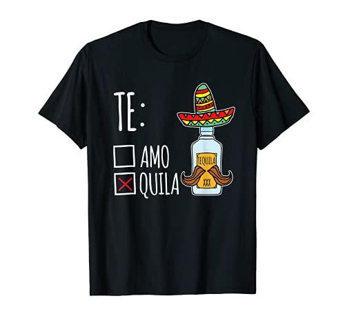 Teamo Tequila lustiges Mexiko Party Geschenk T-Shirt