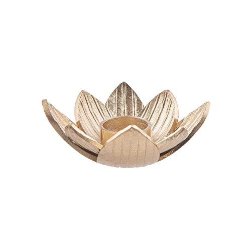 Butlers GOLDEN Nature Teelichthalter Lotus Ø17cm