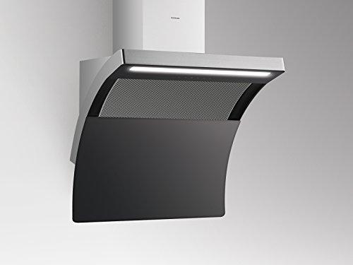 Silverline Slide de Down Premium SDW-T 894S/pared Campana/acero inoxidable/cristal/negro/80cm/cabeza libre/A +