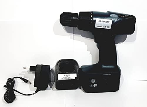 Practa Taladro atornillador batería DC 14,4 V – 1,3 Ah cargador puntas maletín