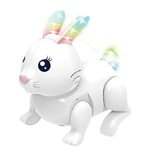 Ochine Electric Rabbit Toy Easter Bunny Electronic Pets Dancing Interactive Pets Stuffed Animals Talking Walking Robot Toys with Light and Sound Gift for Kids Boys Girls