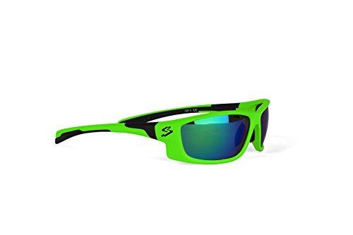 Spiuk Spicy - Gafas de Ciclismo Unisex, Color Verde Mate/Negro