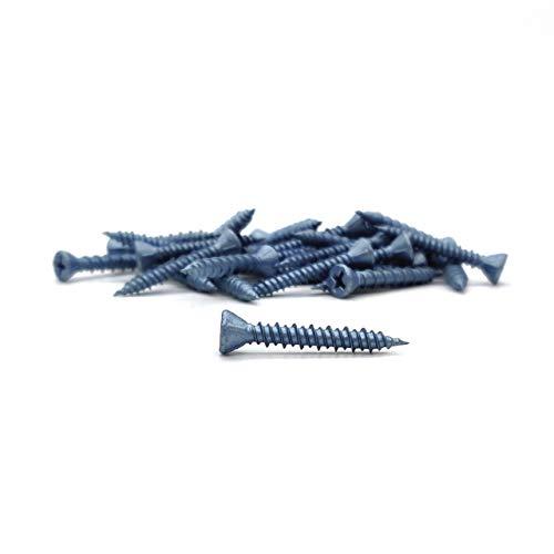 BLUEfast500, Faserplattenschrauben mit Hi-Lo-Gewinde, Fräsrippen, PH2, lose - 1000 Stück (3,9 x 45 mm)