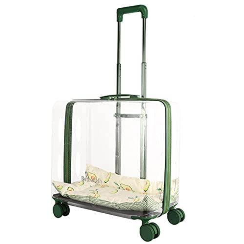 LSJQ Portador rígido Impermeable y Transpirable para Mascotas, maletín Transparente con Carrito para Mascotas de Gran Capacidad, Adecuado para Mascotas de Menos de 26 LB (12 kg)
