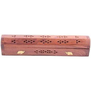 GJ Boon Caja para Incienso (Madera, 10 Conos), Color Rojo, Multicolor, Height 6cmWidth 31cmDepth 5.5cm: Amazon.es: Hogar