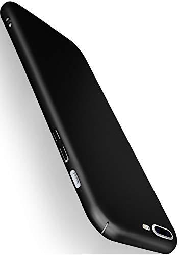 MoEx Cover Ultra-Sottile Compatibile con iPhone 7 Plus/iPhone 8 Plus | Rigida/Anti-graffio, Nero Metallico