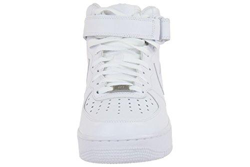 Nike Air Force 1 Mid '07 Zapatillas para Hombre, Blanco, Talla EU 42.5 ( 8 UK)