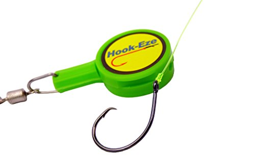 HOOK-EZE Fishing Gear Knot Tying Tool – Cover Hooks on Fishing Rods While Travelling   Line Cutter   for Saltwater Freshwater Bass Kayak Ice Fishing (Green)