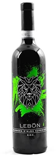 Vino Rosso e Bianco in Bottiglia da 0,75lt del produttore LEBŌN Prodotto in Provincia di Cuneo Vendemmia a Mano (Barbera D'Alba Superiore DOC, Vino Rosso)