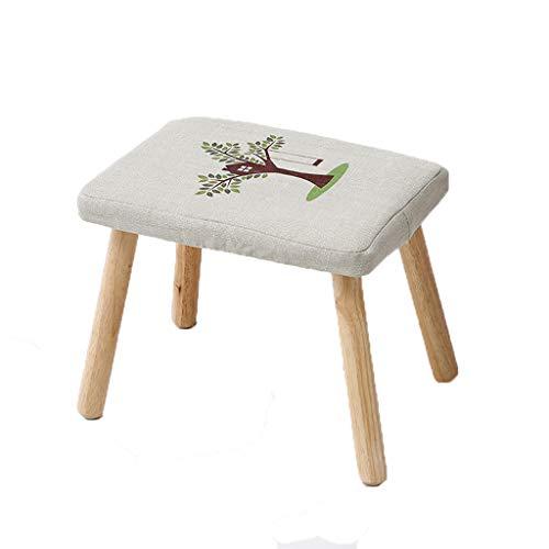 PLL Mode Cartoon sofa veranderen schoenen kruk eenvoudig massief hout en woonkamer thee tafel kruk creatieve kleine bank thuis volwassenen veranderen schoenen bank