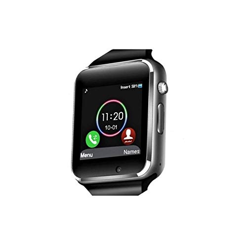 CP Tech - Smart Watch Touchscreen Bluetooth Smartwatch Sports Fitness Tracker Camera Pedometer SIM SD Card Slot Compatible Android iOS Phone for Men Women Kids (Black)