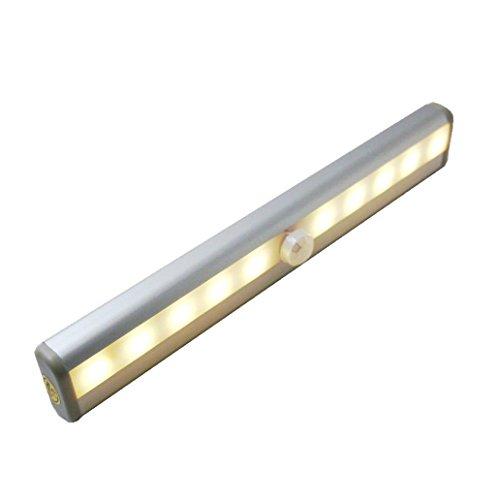 FMGR Luce per mobili a LED, sensore di Movimento per Interni a Luce per mobili a LED, Luce Notturna per Barra Luminosa per mobili Ricaricabile, utilizzata in Bar, Scale, corridoi,Giallo