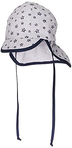 Sterntaler Baby-Jungen Schirmmütze mit Nackenschutz Sonnenhut, Grau (Rauchgrau 566), 45