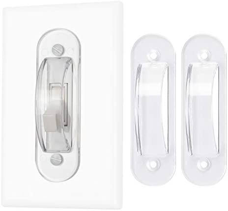 Lisol Wall Switch Guards Plate Covers Child Safety Security Home Decor 2 Pack Clear Keeps Light product image