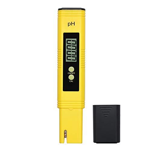 LiNKFOR PH Medidor de Agua Digital Resolución 0.01 Probador de PH con Función de Calibración Automatica Rango de 0.00-14.00 con Batería Potable Piscinas SPA Hidrocultivo Acuático