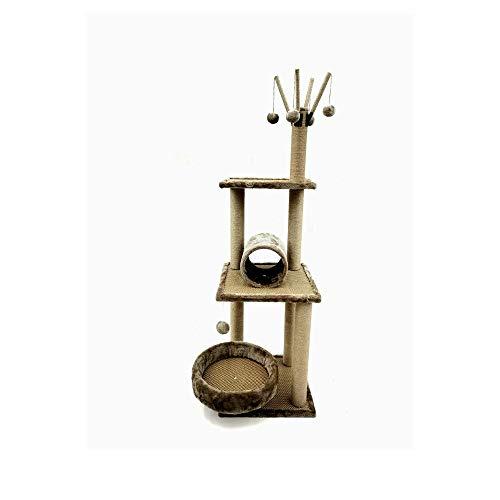 BRAVO Tiragraffi per gatti - Albero tiragraffi per gatti - Piattaforma gioco con corda D: 40 x 40 x 120 cm