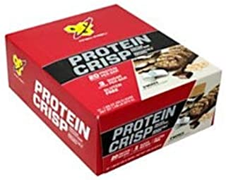 BSN Finish First Protein Crisp Protein Bars, S'mores, 1.98 Oz, Box Of 12 Bars