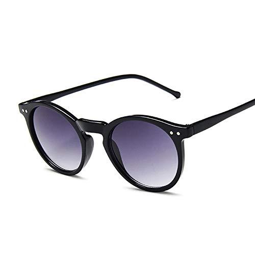 Gafas de sol vintage negro ojo de gato para mujer, redondas, gradientes, gafas de sol femeninas, retrovisor, colorido espejo adecuado para senderismo, conducción, ciclismo