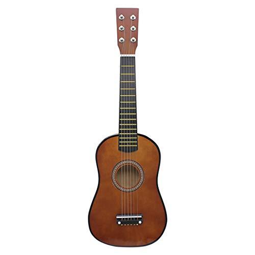 POXL Niños Guitarra Juguete, 6 Cuerdas Infantil Musicales Guitarra Madera Educativos Instrumentos para Principiantes Niño y Niña 3 años +