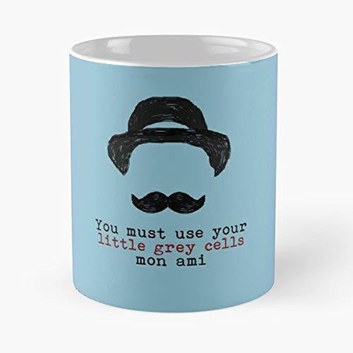 Crime Hercule Poirot Murder Minimalistic Vintage Books Detective Christie Agatha Mystery La Mejor Taza de café de...