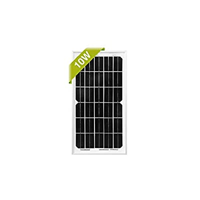 Newpowa 10 Watts 12 Volts Monocrystalline Solar Panel 3ft Wire On The Back Add 5ft Extension Wire with Anderson Connector Module RV Marine Boat Off Grid