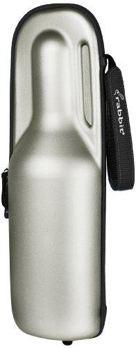 Rabbit Wine Trek Portable Bottle Cooler (Silver and Black)