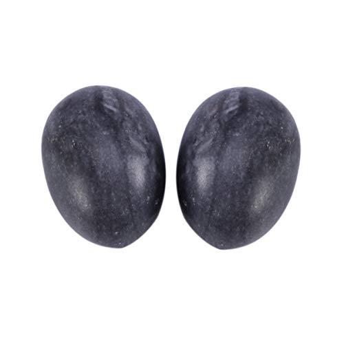 Healifty 6 piezas de huevo de jade yoni huevo bolas de ejercicio de kegel sin perforar amor huevo fortalecimiento del suelo pélvico músculo mano ejercicio baoding bolas (negro azul)