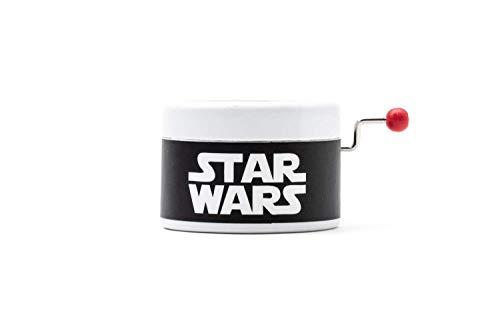 Caja de música de manivela con la música de La guerra de las Galaxias. Melodía de Star Wars.