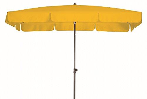 Doppler Absolut wasserdichter Gartenschirm Waterproof 260x150 UV-Schutz 80, Farbe gelb