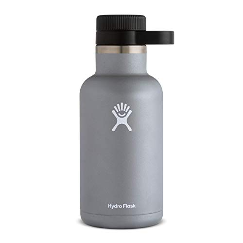 Hydro Flask Beer Growler - Stainless Steel & Vacuum Insulated - Easy-Carry Handle - 64 oz, Graphite