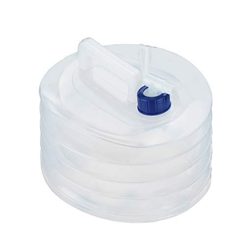 Surplex 10 L Contenedor de Agua Plegable, Bidon de Agua con Grifo Portátil Plegable Agua Potable Depósito, Cubo No Tóxico Sin BPA, perfecto para Camping, Senderismo, Picnic Barbacoa