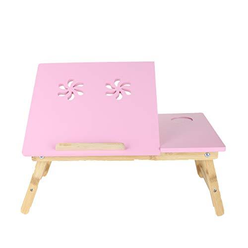 Mind Reader Coolpad Flip Top ajustable, escritorio para ordenador portátil, bandeja para cama, color rosa