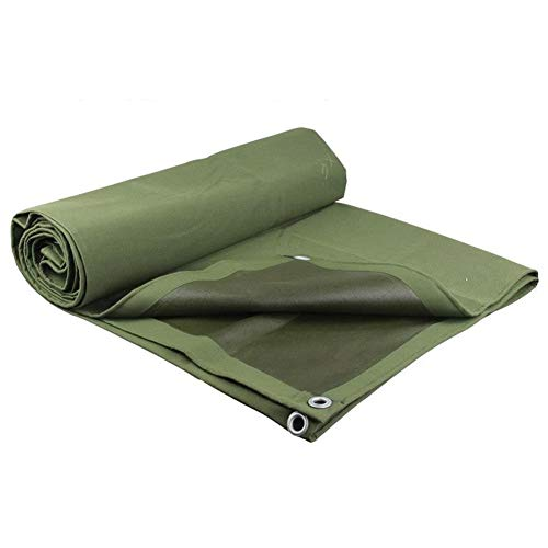 Dekzeil Waterdicht Heavy Duty - Groen zeil - Camping Regendicht Oxford zeil bodemplaat Cover - 600gram/m2 Luifel Tent, Boot, Tuin of Zwembad Cover,Dikte 0.7mm