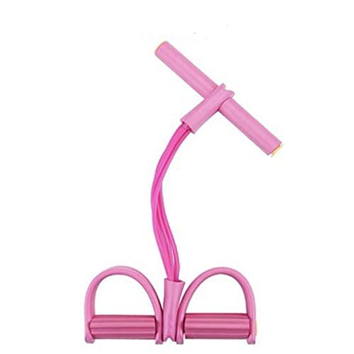 JIEOR Tensor de pedal con figura 8 tensores para abrir los hombros y la espalda hermosa. Figura 8 cuerda tensora fitness en casa (rosa)
