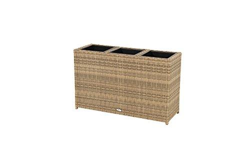 Ploß Outdoor furniture Rabida Pflanzgefäß, Champagner-meliert, 113 x 40 x 70 cm