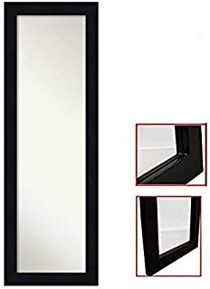 ProDecor Quality Furniture Wood Frame Over The Door Mirror - Wall Mount Full Length Mirror - Wooden Frame Dressing Mirror ...