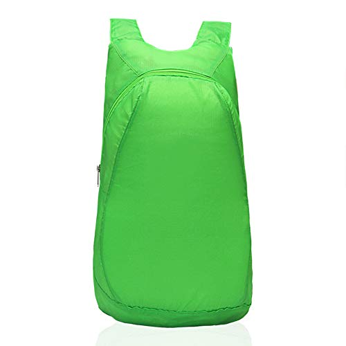 DIKOPRO Ultra Light Folding Backpack Lightweight Portable Foldable Backpack Waterproof Backpack Folding Bag Ultralight Outdoor Pack for Women Men Travel Hiking(Fluorescent green)