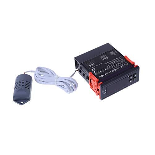 GUMEI Controlador de Humedad Digital Relé de higrostato Interruptor de Control de higrómetro AC 220V